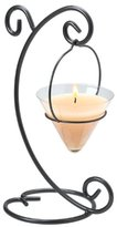 Element International Hanging Glass Votive Candle, Iron Finish