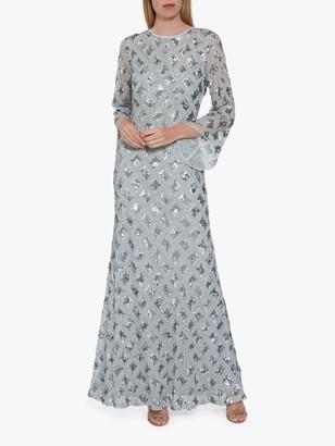 Gina Bacconi Hollis Embroidered Maxi Dress