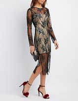 Charlotte Russe Sheer Lace Midi Dress