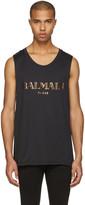 Balmain Blacl Logo Muscle T-shirt