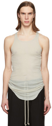 Rick Owens Off-White Rib Tank Top