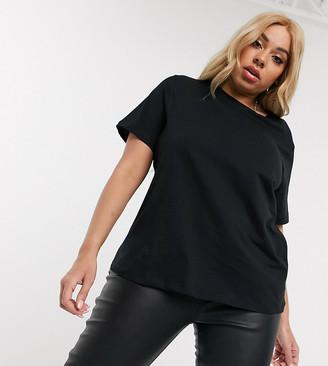 Asos DESIGN Curve ultimate organic cotton crew neck t-shirt in black