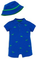 Little Me Boys' Piqué Dino Romper & Hat Set - Baby