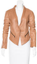 Haute Hippie Shawl Collared Leather Blazer