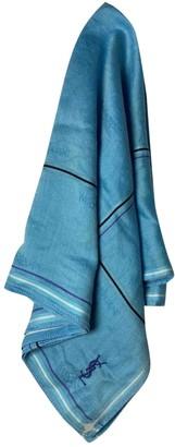 Saint Laurent Turquoise Cotton Scarves & pocket squares