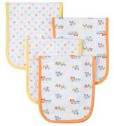 Gerber ; 4 pack Burp Cloth - Bear Print One Size