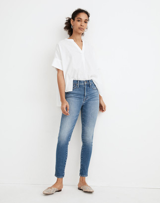 """Madewell Tall 10"""" High-Rise Skinny Crop Jeans in Sheffield Wash"""
