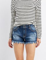 Charlotte Russe Refuge Hi-Rise Cheeky Denim Shorts
