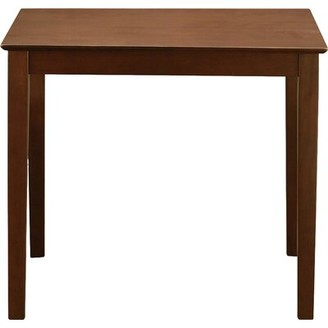 Andover Mills Tybalt Counter Height Rubberwood Solid Wood Dining Table Finish: Mahogany