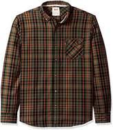 Levi's Men's Vermilion Long Sleeve Dobby Shirt