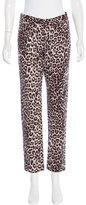 Rag & Bone Leopard Print Straight-Leg Jeans w/ Tags