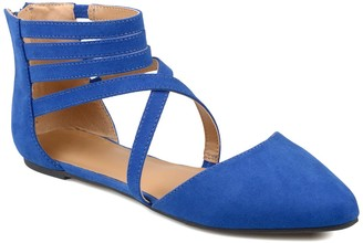 Journee Collection Marlee Ankle Strap Flat