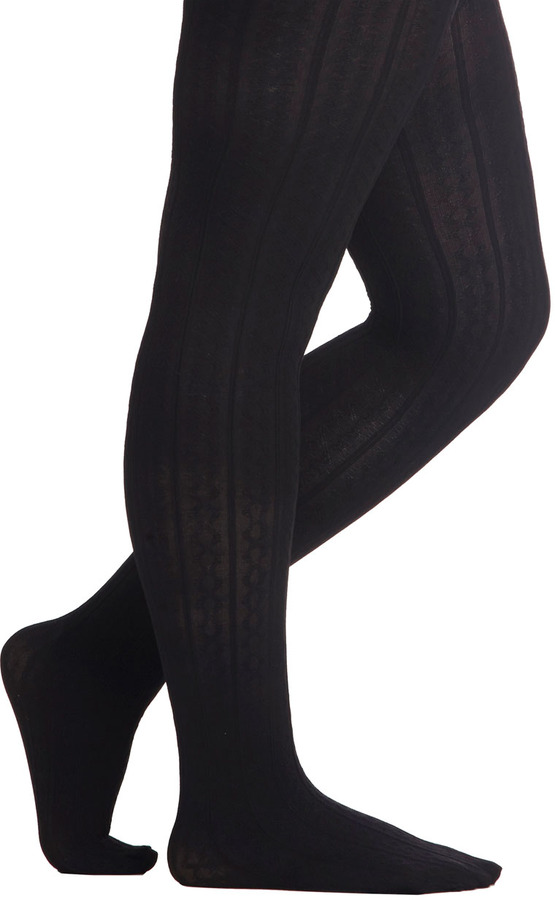 Look From London Liven Up Your Look Tights in Black - Plus Size