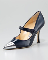 Manolo Blahnik Camparicap Mary Jane Pump