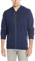 Calvin Klein Jeans Men's Jacquard Pique Full Zip Hooded Sweatshirt