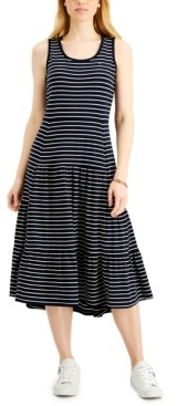 Tommy Hilfiger Striped Tiered Dress