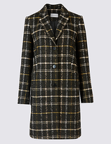 Classic Checked Tweed Pocket Coat