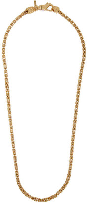 Emanuele Bicocchi Gold Byzantine Chain Necklace