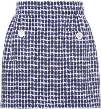 Miu Miu Houndstooth Mini Skirt