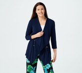 Every Day by Susan Graver Liquid Knit Anorak Style Cardigan
