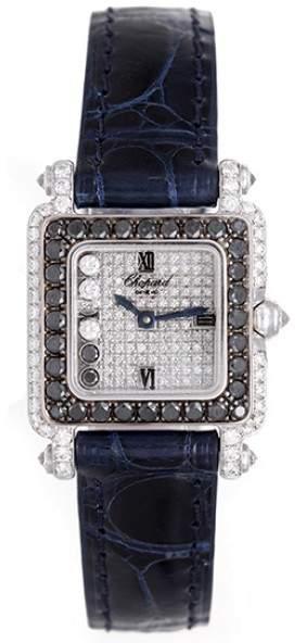 Chopard Happy Diamonds 276852-1025 18K White Gold Diamonds 23mm Womens Watch