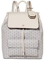 Tory Burch Gemini Link Canvas Backpack (New Ivory Gemini Link) Backpack Bags