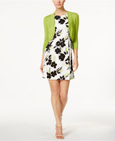 Jessica Howard Petite Printed Fit & Flare Dress and Shrug