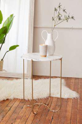 Urban Outfitters Annette Side Table - gold at