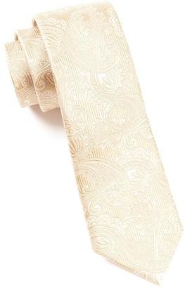 Tie Bar Twill Paisley Champagne Tie