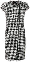Love Moschino zipped houndstooth dress