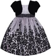 Platinum Rose Bow Dress - Girls