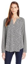 NYDJ Women's Mixed Print Blouse