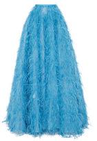 Monique Lhuillier Feather Ball Skirt