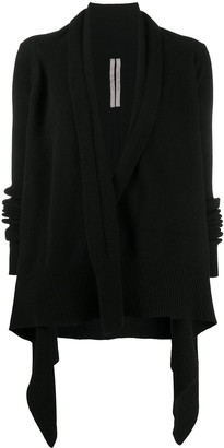 Rick Owens Draped Knitted Jacket