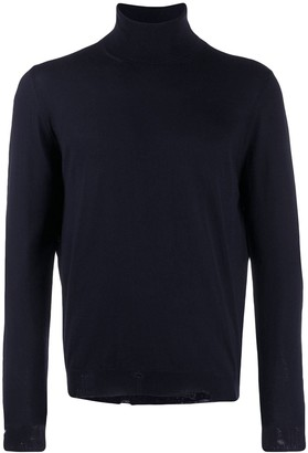 Golden Goose Distressed Turtle Neck Knitted Sweater
