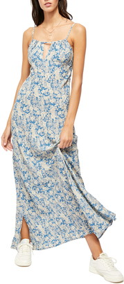 Free People Bon Voyage Floral Print Sleeveless Dress