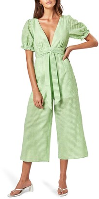 Charlie Holiday Rowan Cotton Gingham Jumpsuit
