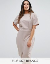 Club L Plus Office Midi Dress With Split Front