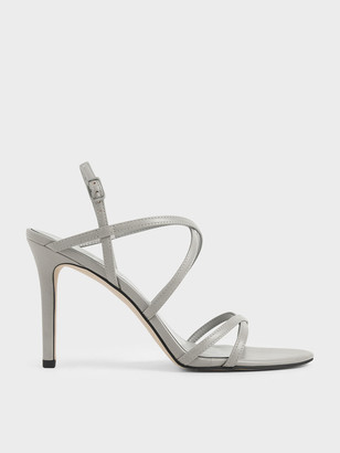 Charles & Keith Criss Cross Strappy Stiletto Heels