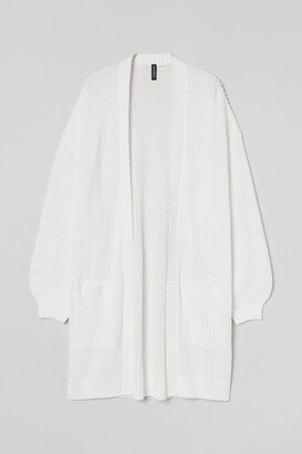H&M Long Cotton-blend Cardigan