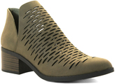 City Classified Olive Chalk Bootie