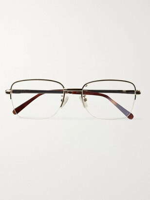 Brioni D-Frame Gold-Tone And Tortoiseshell Acetate Optical Glasses