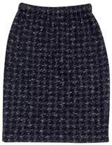 St. John Black & White Houndstooth Skirt