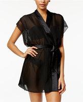 Calvin Klein Black Endless Silk Lace Robe QS5679