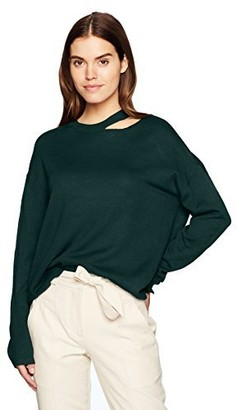 EVIDNT Women's Cut-Out Detailed Long Sleeve TOP