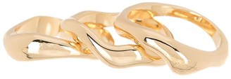 Halogen Molten Wavy Stacked Rings - Set of 3