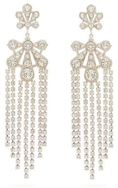 Paco Rabanne Palm-pendant Small Crystal Clip Earrings - Womens - Crystal