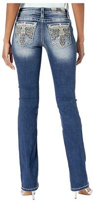 Miss Me Thunderbird Bootcut Jeans in Dark Blue (Dark Blue) Women's Jeans