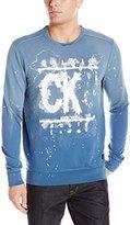Calvin Klein Jeans Men's Watermark Crewneck Terry Sweatshirt