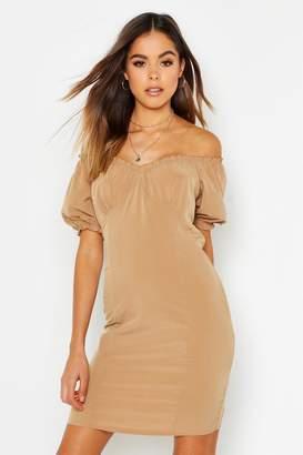boohoo Off Shoulder Gypsy Dress